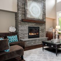 Stone wall cladding / interior / textured / decorative