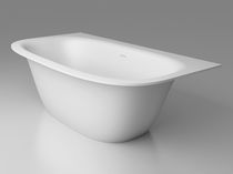 Free-standing bathtub / oval / Solid Surface / hydromassage
