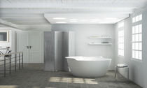 Free-standing bathtub / round / Solid Surface / hydromassage