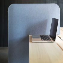 Countertop office divider / fabric / soundproofed