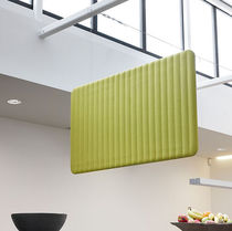 Wall-hung partition / fabric / for offices / acoustic