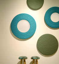 Felt acoustic panel / wall-mounted / design / for offices