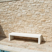 Public bench / garden / contemporary / high-performance concrete