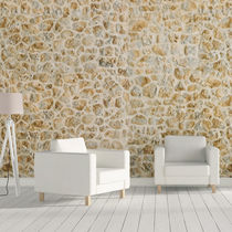 Concrete wallcovering / residential / textured / stone look