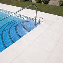Engineered stone swimming pool coping