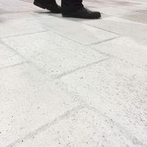Outdoor tile / for floors / concrete / plain