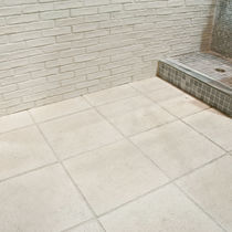 Outdoor tile / for floors / concrete / plain
