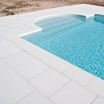 Engineered stone swimming pool coping