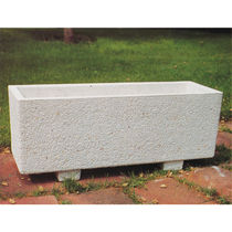 Concrete planter / rectangular / contemporary / for public areas