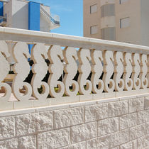 Outdoor balustrade / engineered stone / bar / for patios