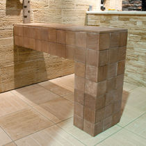 Engineered stone wall cladding panel / indoor / outdoor / textured