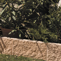 Garden edging / engineered stone / linear / horizontal