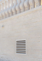 Engineered stone ventilation grille / square