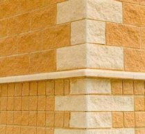 Hollow concrete block / for partition walls / rectangular / exposed