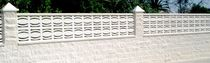 Concrete balustrade / panel / outdoor / for balconies