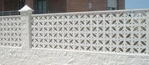 Concrete balustrade / panel / for balconies / for patios