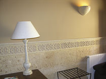 Natural stone border tile