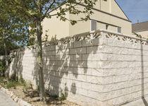 Hollow concrete block / for retaining walls / rectangular / exposed