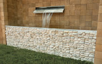 Concrete wall cladding panel / indoor / outdoor / stone look