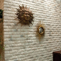 Concrete wallcovering / residential / textured / imitation brick