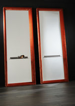 Wall-mounted mirror / contemporary / rectangular / in wood