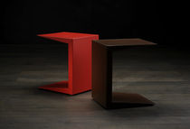Side table / contemporary / metal