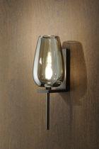 Contemporary wall light / glass