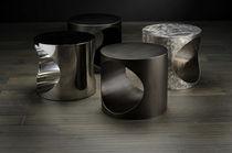 Side table / contemporary / metal / indoor