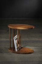 Side table / contemporary / American walnut