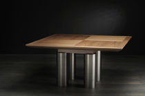 Dining table / contemporary / wood veneer