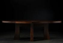 Dining table / contemporary / wood veneer / indoor