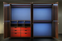 Contemporary wardrobe / wood / with swing doors
