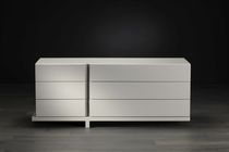 Contemporary chest of drawers / wooden / white