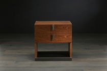 Bedside table / rectangular / contemporary / wood