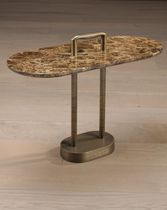 Side table / oval / contemporary / metal