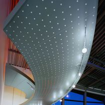 False ceiling acoustic panel / metal / perforated / commercial