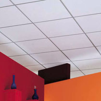 Mineral fiber suspended ceiling / panel / acoustic / perforated