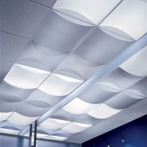 PVC decorative panel / textured / acoustic / curved