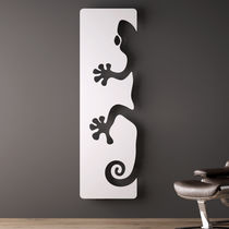 Hot water radiator / electric / metal / original design