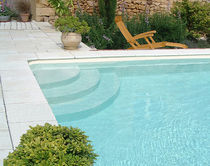 In-ground swimming pool / concrete / polymer block / outdoor