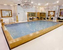 In-ground swimming pool / concrete / polymer block / indoor