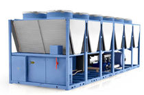 Air-cooled chiller / floor-mounted / free cooling