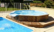 6 seater built-in hot-tub IRIS Alliances piscines