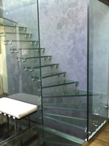 Quarter-turn staircase / half-turn / glass steps / glass frame