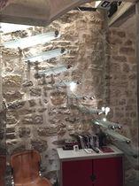 Straight staircase / quarter-turn / glass steps / glass frame