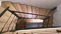 Half-turn staircase / wooden steps / oak steps / steel frame