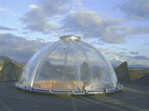 Plastic transparent dome