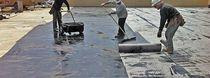 Bridge construction waterproofing membrane / flexible / liquid / rubber