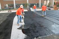 Rubber waterproofing membrane / asphalt / polymer / for bridge inspection