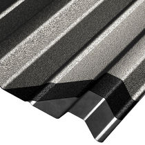 Sheet steel roofing / profiled